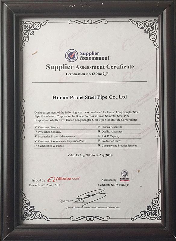 Certificate Carbon Steel Pipe Stainless Steel Pipe
