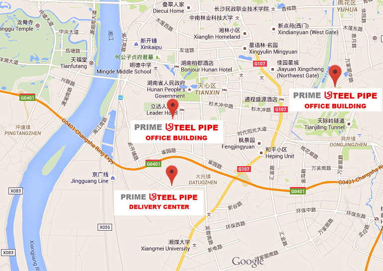 Address Map --- Prime Steel Pipe